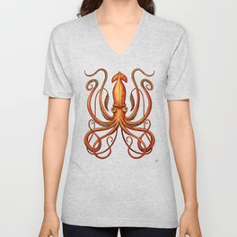 Giant Squid 2 Unisex V-Neck