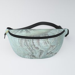 Jellyfish Underwater Aqua Turquoise Art Fanny Pack