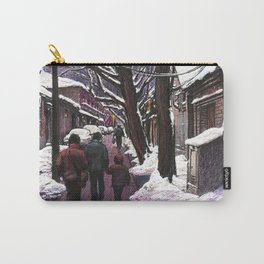 Snowy street at nightfall Carry-All Pouch