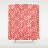 chevron Shower Curtains featuring Chevron by Dizzy Moments