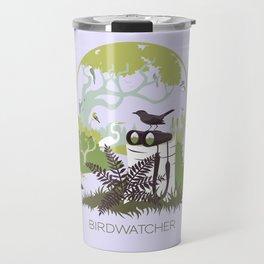 Birdwatcher (greens) Travel Mug