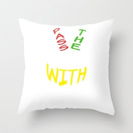Spread the Love with this Peace of mind Tshirt Design Pass the peace Throw Pillow