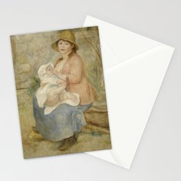 Maternity (Child at the breast) Stationery Cards