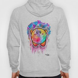 Cute Galaxy KIRBY - Watercolor Painting - Nintendo Hoody