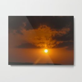 Sunsetting in key west on sunset cruise  Metal Print