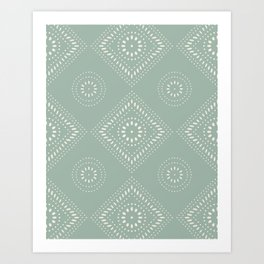 Farmhouse Folk Art Pattern Art Print