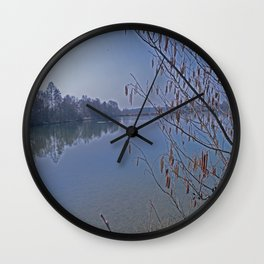 natural lake Wall Clock