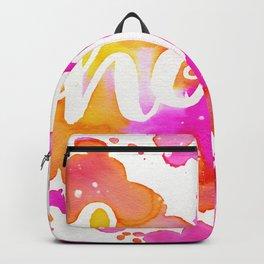 HOPE watercolor - Pink Backpack