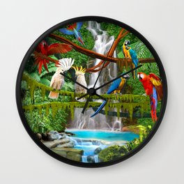 Enchanted Jungle Wall Clock