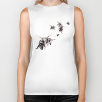 bees Biker Tanks featuring Crown of Bees by Rachael Shankman