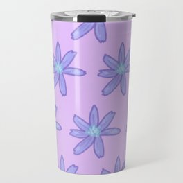 Chicory on Lavender Travel Mug
