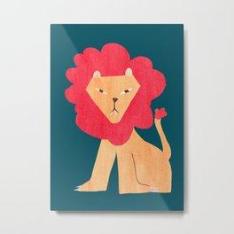 Ferocious lion Metal Print