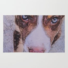 Border Collie puppy I Rug