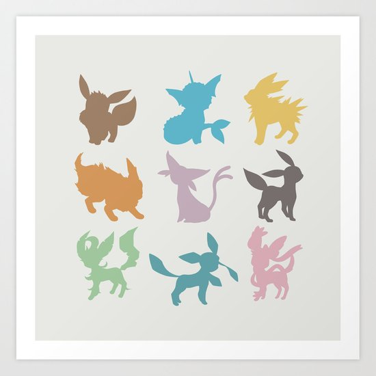 Eeveelution Art Print