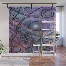 Maille bleue Wall Mural