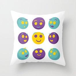 give smiles Throw Pillow