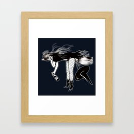 Witch Taxi Framed Art Print