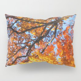 Autumnal colors in forest Pillow Sham