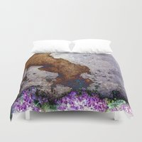 gnome Duvet Covers featuring gnome by pixelplasma