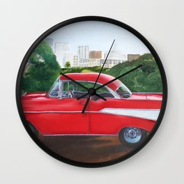 Terry's Cherry Red '57 Chevy Wall Clock