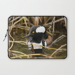 Hooded Merganser | Wildlife Photography | Birds Laptop Sleeve