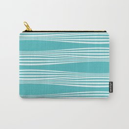 wavy stripes in aqua Carry-All Pouch
