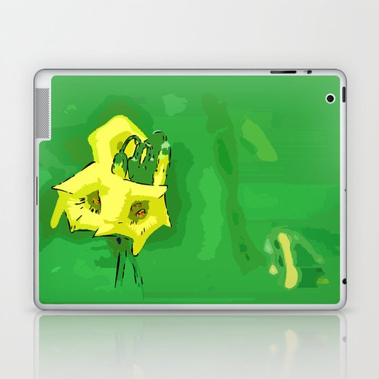 Three yellow Pentagons Laptop & iPad Skin