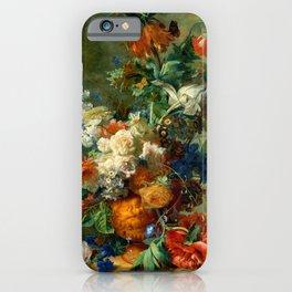 "Jan van Huysum ""Still Life with Flowers"" iPhone Case"