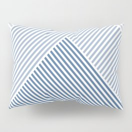 Shades of Blue Abstract geometric pattern Pillow Sham