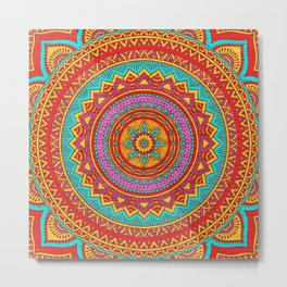 Hippie mandala 95 Metal Print