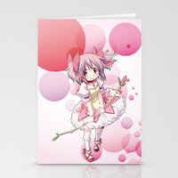 madoka Stationery Cards featuring Madoka Kaname by Yue Graphic Design