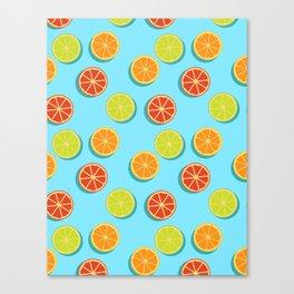 Summer insta fruits Canvas Print