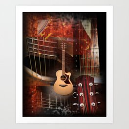 The acoustic guitar Art Print