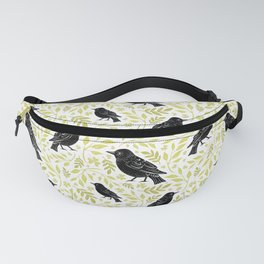 Blackbird and Foliage II Fanny Pack