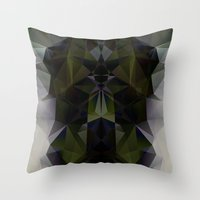 warrior Throw Pillows featuring WARRIOR by ED design for fun