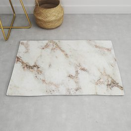 Artico marble - rose gold accents Rug
