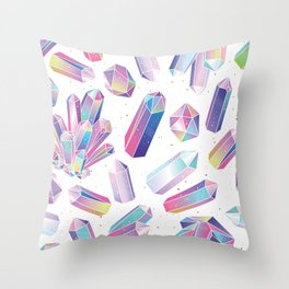 Purple Crystals Throw Pillow
