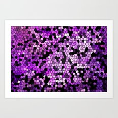 STAINED GLASS PURPLES Art Print