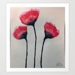 A Litte Red Art Print