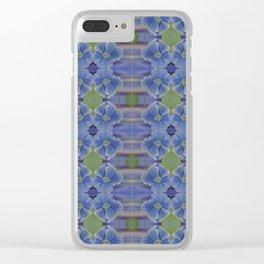 Nasturtium Flower Pattern Clear iPhone Case