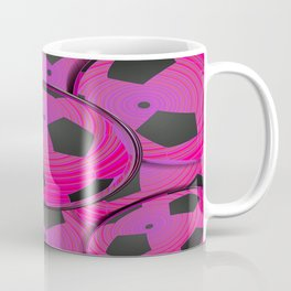 Pink Black Soccer Balls Coffee Mug