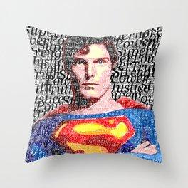 Superman Man of Tomorrow Throw Pillow