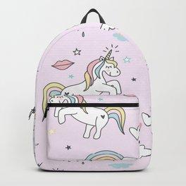 Unicorn & Rainbows Light Pink Backpack