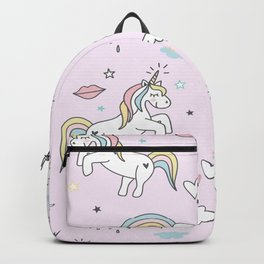 Unicorn & Rainbows Light Pink Backpack