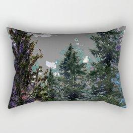 BABY BLUE WESTERN PINE TREES  LANDSCAPE Rectangular Pillow