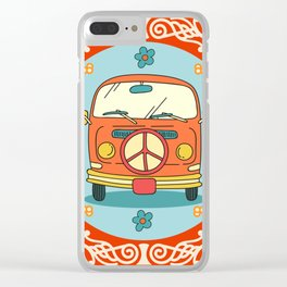 Hippie 70s Clear iPhone Case
