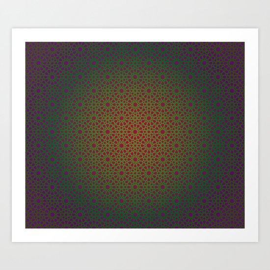 Purple/Green Art Print