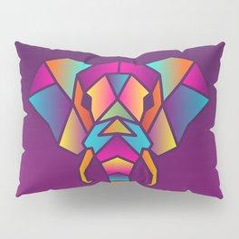 Elephant   Geometric Colorful Low Poly Animal Set Pillow Sham