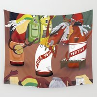 rasta Wall Tapestries featuring rasta & cheers by gran mike