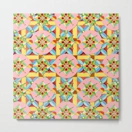 Heraldic Pink Polka Dots Metal Print